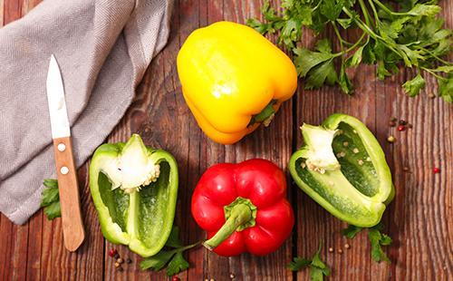 Разноцветный сладкий перец для салата