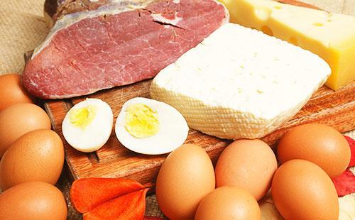 Масло, сыр и мясо