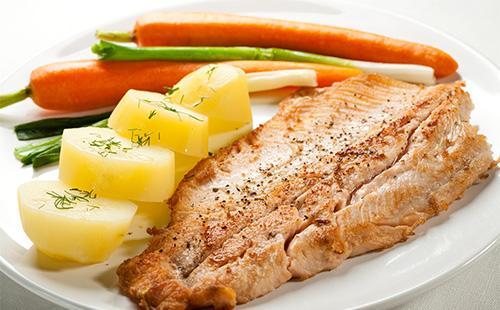 Кусок мяса с картофелем
