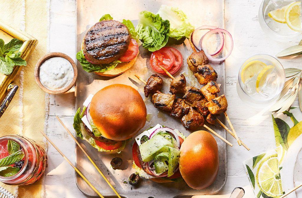 Рецепт бургера с бараниной в греческом стиле